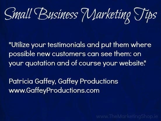 Gaffey Productions - Small Business Marketing Tips